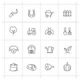 Farming icons Royalty Free Stock Photo