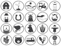 Farming Icons Vector Collection Royalty Free Stock Images