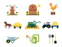 Farming icons Royalty Free Stock Images