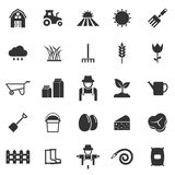Farming icons on white background Royalty Free Stock Photo