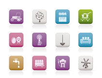 Farming industry and farming tools icons royalty free illustration