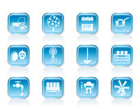Farming industry and farming tools icons Royalty Free Stock Photography