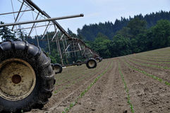 Farming Irrigation System. In Rural Portland Oregon Area Royalty Free Stock Image