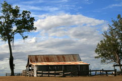 Farming Life. An old shed type of barn on a farm in Outback Queensland, Australia Royalty Free Stock Images