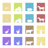 Farming logos and symbols Stock Photography