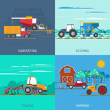 Farming Machines Icons Set Royalty Free Stock Photo