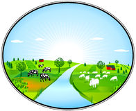 Farming panorama Royalty Free Stock Photos