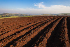 Farming Plowed Earth Seasons Royalty Free Stock Photo