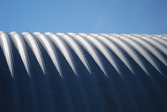 Farming quonset steel horizontal blue sky Stock Photo