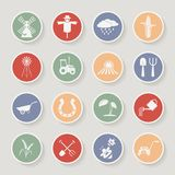 Farming round icons. Vector illustration Royalty Free Stock Photography