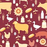 Farming seamless pattern Royalty Free Stock Images