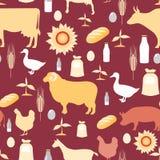 Farming seamless pattern vector illustration