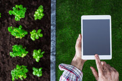 Farming and technology Stock Photography