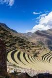 Farming terraces by the Inca Stock Photos