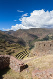 Farming terraces by the Inca Royalty Free Stock Photography