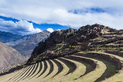Farming terraces by the Inca Stock Image