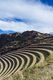 Farming terraces by the Inca Stock Images