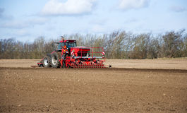 Farming tractor Stock Image