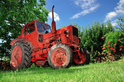 Farming tractor Stock Photo