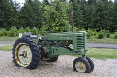 Farming truck displayed in garden Stock Photography