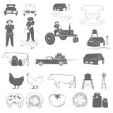 Farming Two-color Icon Set. Stock Photography