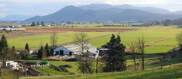 Farming in a Valley Stock Photos