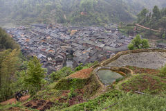 Farming village in mountains of Dong Minority south western Chin Stock Photo
