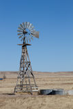 Farming windmill on the plains of Colorado Stock Photos