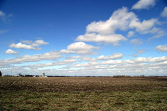 Farmland 1. SE Iowa field in April on a very windy day stock photos