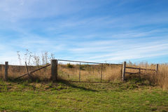 Farmland. A gate on farmland property in rural Australia Royalty Free Stock Image