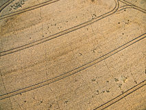 Farmland from above - aerial image Stock Photo