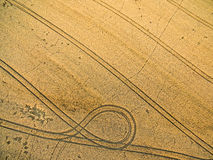 Farmland from above - aerial image Stock Image