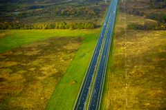 Farmland aerial view at autumn Stock Images