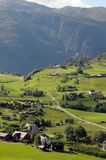 Farmland around Hardangerfjord, Norway Stock Photos