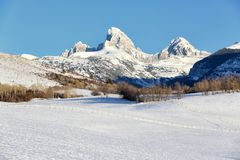 Free Farmland At The Base Of The Teton Mountain Range. Royalty Free Stock Photo - 162349105