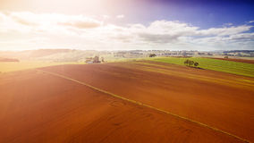 Farmland in Australia. Beautiful rural crops and farmland in South Gippsland, Australia Royalty Free Stock Photo