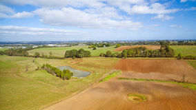 Farmland in Australia. Beautiful rural crops and farmland in South Gippsland, Australia Royalty Free Stock Image