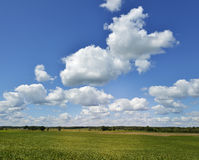 Farmland And A Beautiful Sky Stock Photo