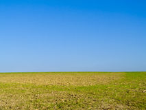 Farmland on Clear Blue Sky Royalty Free Stock Photos