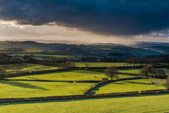 Farmland and coutryside with stormy clouds rolling. Stock Photography