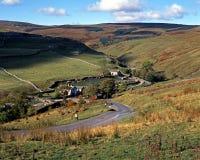 Farmland, Darnbrook, Yorkshire Dales. View across farmland and fell, Darnbrook, Yorkshire Dales, England, Western Europe Stock Photos