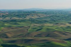 Farmland. In early morning, Steptoe Butte State Park, Oakesdale, Washington Royalty Free Stock Photos