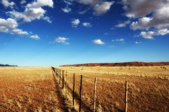 Farmland Fence (Namibia) Stock Images