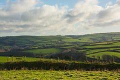 Fields on Exmoor near Lynton, Devon, England Royalty Free Stock Photo