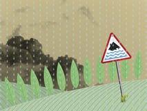 Farmland flood warning Royalty Free Stock Photography