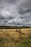 Farmland gate Royalty Free Stock Image