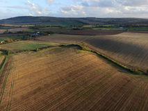 Farmland. After the harvest wit wheat stubble fields royalty free stock images