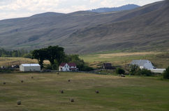 Farmland Haystack america Stock Image