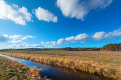 Farmland with irrigation canal Royalty Free Stock Photo