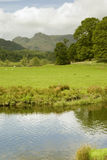 Farmland in the Lake District. View across farmland to the fells in the Lake District - portrait orientation Stock Photos